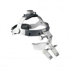 Бинокулярная лупа Heine HR 2,5x Set B с креплением на шлеме без защитного щитка